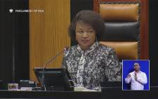 National Assembly Speaker Baleka Mbete. Picture Screengrab.