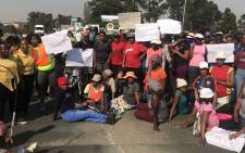Residents march against crime in Zandspruit. Picture: Christa Eybers/EWN