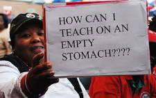 A file picture of a teachers strike. Picture: EWN