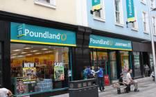 FILE: British discount chain Poundland. Picture: Wikipedia.