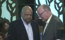 FILE: Finance minster Pravin Gordhan and Tourism Minister Derek Hanekom. Picture: Kgothatso Mogale/EWN""
