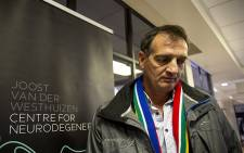 Pieter Van Der Westhuizen outside the clinic department named after his brother Joost. Picture:Kayleen Morgan/EWN