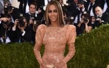 Beyonce wore a skin-tight custom Givenchy latex gown at the 2016 Met Gala, with the theme Manus x Machina: Fashion In An Age Of Technology. Picture: AFP.