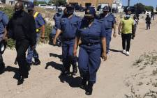 Minister of Police Bheki Cele with SAPS management arrived in Vredendaal, West Coast as part of the spot checks to ensure compliance with adjusted COVID-19 level 3 regulations in the coastal areas of Western Cape. Picture: SAPS.