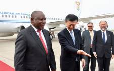 President Cyril Ramaphosa pictured at the Tokyo International Airport on 27 August 2019. Picture: @PresidencyZA/Twitter