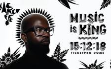 The flyer for DJ Black Coffee's 'Music is King' concert. Picture: Supplied