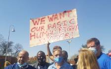 Community members from South Hills, Linmeyer, Risana and Tulisa Park picketed outside the Rand Water offices on 1 September over a lack of water. Picture: Dominic Majola/Eyewitness News