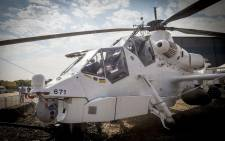 A Rooivalk helicopter stands on display at AAD 2016. Picture: Thomas Holder/EWN