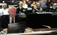 FILE: Arms deal activist Terry Crawford-Browne is seen at the Seriti Commission of Inquiry into the arms deal in Pretoria on Tuesday, 20 August 2013. Pitcure: Sapa.