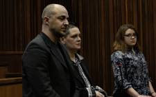 Zak Valentine, Cecilia Steyn and Marcel Steyn at sentencing proceedings on 19 August 2019. Pictures: Kayleen Morgan/EWN