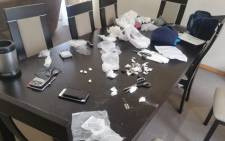 Port Elizabeth police arrested two people in connection with drugs worth estimated R300,000 seized at a house in Kamma Park. Picture: SAPS.
