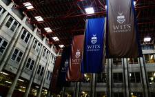 FILE: Wits University banners in a hall. Picture: Reinart Toerien/EWN