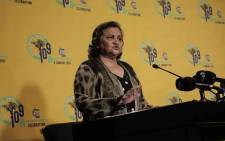 ANC deputy secretary-general Jessie Duarte briefing media on 7 September 2021. Picture: Abigail Javier/Eyewitness News