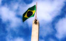 The Brazilian flag flies high at the Football Museum in Sao Paulo on 13 June 2014. Picture: Christa Eybers/EWN.