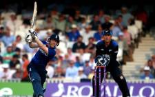 England's Eoin Morgan, hits a ball during their one-day international against New Zealand. Picture: Facebook.