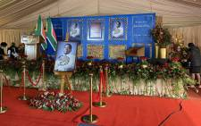 The memorial service of the AmaZulu King Goodwill Zwelithini kaBhekhuzulu Zulu took place on 18 March 2021. Picture: @kzngov/Twitter.