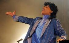 FILE: US rock legend Little Richard performs on the stage of the Terre Neuvas festival in July 2006 in Bobital, western France. Picture: AFP