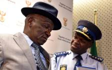 FILE: Police Minister Bheki Cele and National Commissioner Khehla Sitole. Picture: GCIS.