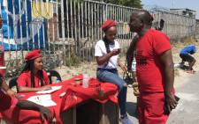 EFF SG Godrich Gardee in Gugulethu for the voter registration weekend. Picture: Kevin Brandt/EWN.