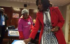 Public Protector Thuli Madonsela places her ballot inside the ballot box on elections day, 3 August 2016. Picture: Barry Bateman/EWN.