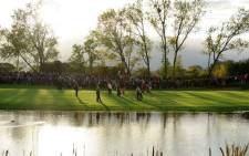 FILE: A series of long putts, and the occasional chip-in, disappeared from every angle on a cold, crisp morning on the picturesque hills and banks of Gleneagles. Picture: AFP.