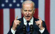 US President Joe Biden speaks during a commemoration of the 100th anniversary of the Tulsa Race Massacre at the Greenwood Cultural Center in Tulsa, Oklahoma, on 1 June 2021. Pictre: Mandel Ngan/AFP