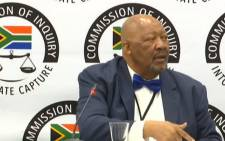 A YouTube screengrab shows Chose Choeu at the state capture inquiry on 30 October 2019. Picture: SABC Digital News/youtube.com