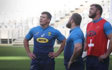 FILE: Springbok hooker Schalk Brits (left) during training at the Cape Town Stadium on 19 June 2018. Picture: Bertram Malgas/EWN