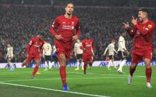 Liverpool's Virgil van Dijk and teammates celebrate after a goal in a match where they beat Manchester United 2-0 on 19 January 2020. Picture: @LFC/Twitter.