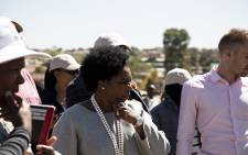 Public Services and Administration Minister Ayanda Dlodlo visiting a community in Diepsloot. Picture: Kayleen Morgan/EWN