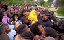 Students clash with security at UJ and a student passed out during stampede. Picture: Kgothatso Mogale/EWN