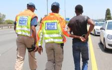 A man was arrested last night after being caught driving at 158 kilometres per hour, in a 120 kilometre zone. Picture: EMPD.