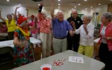 A 99 year old does the harlam shake.  Picture: CNN