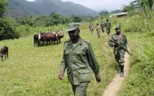 "General Janvier Buingo Karairi, the leader of the Mai Mai, the collective term for several disparate paramilitary groups claiming to defend particular ethnic communities, group ""the Alliance of Patriots for a Free and Sovereign Congo (APCLS)"". Picture: AFP."