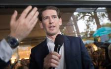Former Austrian Chancellor and Chairman of the Austrian People's Party (OeVP) Sebastian Kurz delivers a press statement at the Political Academy in Vienna on 27 May 2019. Picture: AFP