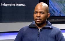A YouTube screengrab of SABC soccer analyst David Kekana.