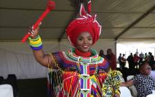 Renowned poet Jessica Mbangeni at the National May Day rally in Durban. Picture: Abigail Javier/EWN.