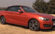 BMW 228i convertible , the first of its kind in the 2 series model. Picture: Kgothatso Mogale/EWN