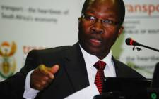 Minister of Transport, Sbu Ndebele. Picture: Taurai Maduna/Eyewitness News