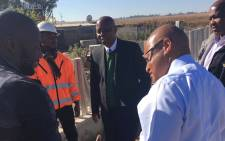 Johannesburg Mayor Herman Mashaba during his visit to Diepsloot over power cuts and lack of infrastructural development in the area. Picture: @CityofJoburgZA