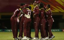 The West Indies celebrate the fall of a wicket. Picture: ICC