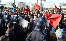 Moroccans demonstrate in the streets of Tetouan on February 20, 2011 in favour of political reforms. Picture: AFP.