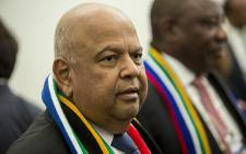 Finance Minister Pravin Gordhan speaks to potential investors at a Brand South Africa briefing at the World Economic Forum in Switerland on 17 January, 2017. Picture: Reinart Toerien/EWN