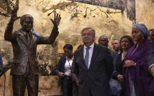 UN Secretary-General António Guterres (centre) attends a ceremony held to unveil the Nelson Mandela Statue gifted to the United Nations by the Republic of South Africa. Picture: United Nations Photo