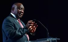 FILE: President Cyril Ramaphosa addresses South African Local Government Association National Members Assembly at Inkosi Albert Luthuli International Convention Centre, Durban. Picture: GCIS.