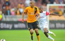 Kaizer Chiefs' Siyabonga Nkosi run past Free State Stars player during their PSL clash on 16 December 2014 at the Peter Mokaba Stadium. Picture: Siyabonga Nkosi Official Facebook page.
