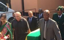 Finance Minister Pravin Gordhan at the memorial service of former Robben Island prisoner and struggle stalwart, Shirish Nanabhai on 04 April 2016. Picture: Govan Whittles/EWN