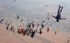 221 skydivers failed their final attempt to break a world record following fatal accident in Arizona.Picture: AFP