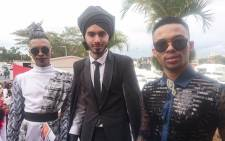 Winner of the Best Dressed Male is Martin (L) with 2nd and 3rd runnerups. Picture: @VodacomDbnJuly.