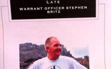 Hundreds of people came to pay tribute to Warrant officer Steven Britz on 23 April 2014. Picture: Mia Spies/EWN.